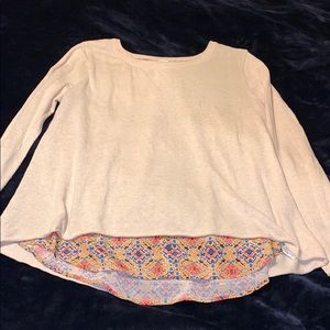 Anthropologie Sweater Shirt Top Size Large